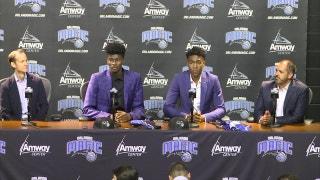 Jonathan Isaac and Wesley Iwundu - Orlando Magic press conference (Part 1)