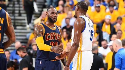 LeBron says Cavs not giving up against Warriors in NBA Finals
