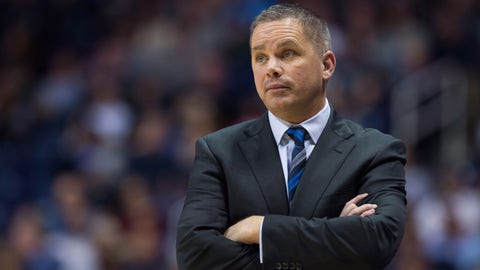CINCINNATI, OH - FEBRUARY 26: Butler Bulldogs head coach Chris Holtmann on the sidelines during the men's college basketball game between the Butler Bulldogs and Xavier Musketeers on February 26, 2017, at the Cintas Center in Cincinnati, OH. (Photo by Zach Bolinger/Icon Sportswire via Getty Images)