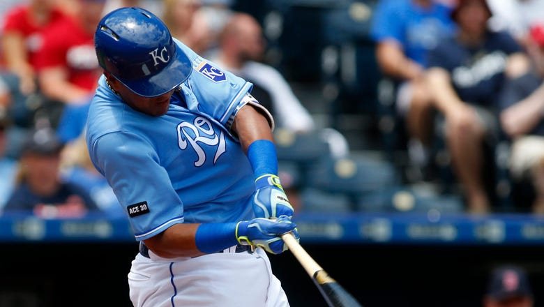 Royals beat Red Sox on Salvy's first big league grand slam
