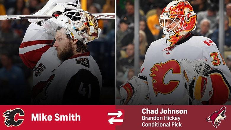 Coyotes trade goalie Smith to Flames