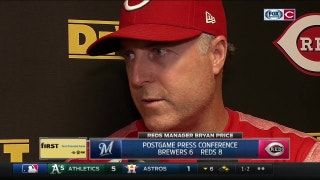 Bryan Price was pleased with Reds' production up and down the lineup
