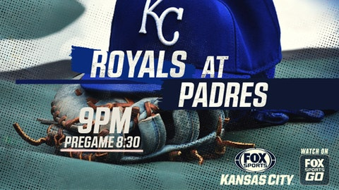 Nine-run eighth pushes Royals over Padres