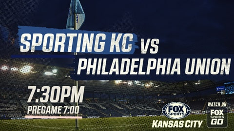 Sporting KC returns home for matchup against Philadelphia Union