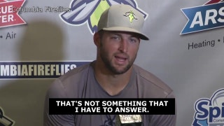 Tim Tebow on stats critics 'That's not something I have to answer'