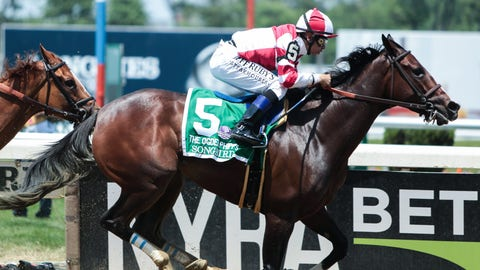 Songbird with Mike Smith up captures the 49th Running of the Ogden Phipps. Credit Nicole Sweet-USA TODAY Sports Nicole Sweet-USA TODAY Sports
