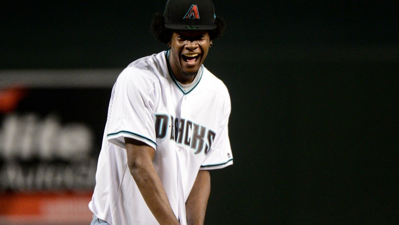 Watch Josh Jackson throw out laughably bad first pitch at D-backs game