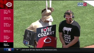 Joey Votto dons donkey suit to get ASG votes for Zack Cozart