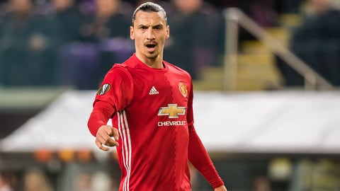 Zlatan Ibrahimovic of Manchester Unitedduring the UEFA Europa League quarter final match between RSC Anderlecht and Manchester United on April 13, 2017 at Constant Vanden Stock Stadium in Brussels, Belgium.(Photo by VI Images via Getty Images)