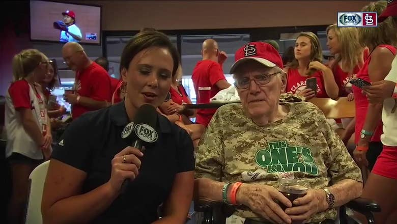 World War II veteran Clarence Adelhardt on his Cardinal fandom