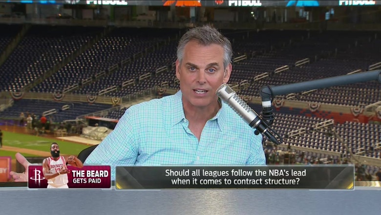 Colin details why James Harden's record contract was a smart move for the Rockets | THE HERD