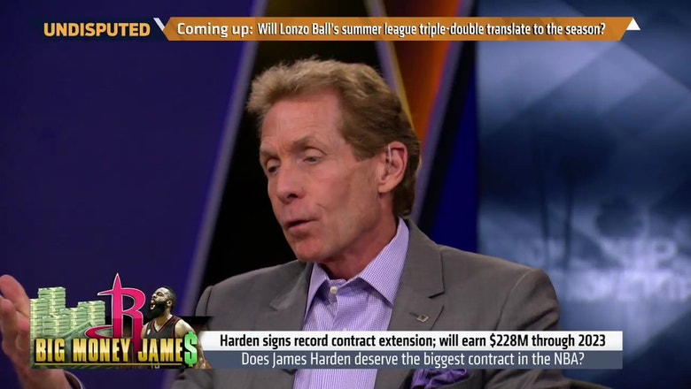 Skip Bayless explains why James Harden's extension will backfire for the Rockets | UNDISPUTED