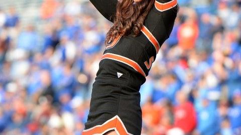 Oklahoma State cheerleader