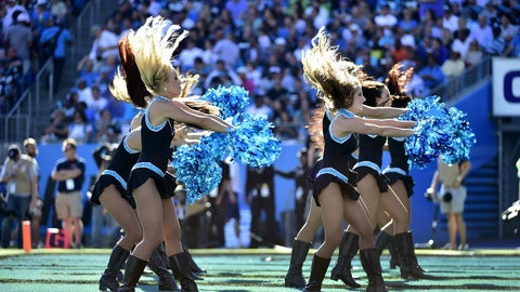 Panthers cheerleaders