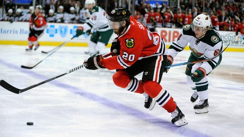 What was one of the biggest issues, term or something else in getting a new deal with the Blackhawks?