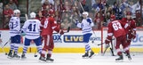 Coyotes' win streak halted by red-hot Maple Leafs