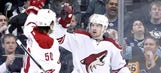 Coyotes stun erratic Penguins