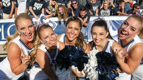 BYU cheerleaders