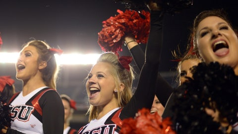 San Diego State cheerleaders