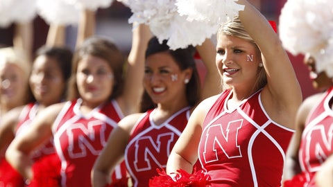 Nebraska cheerleaders