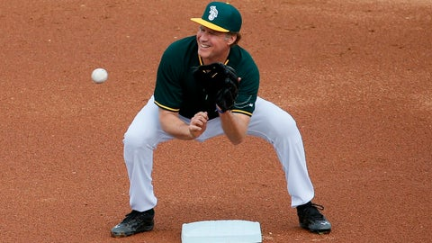 Ferrell with the A's