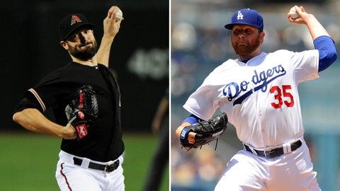 Diamondbacks (37-40) vs. Dodgers (44-35)