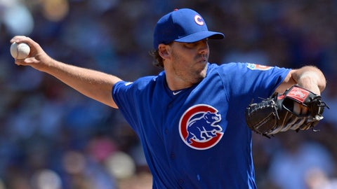 Lackey shaky early, rebounds later