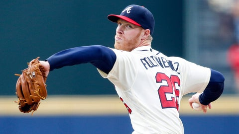 Braves starting pitcher Mike Foltynewicz
