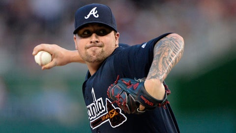 Braves starting pitcher Rob Whalen