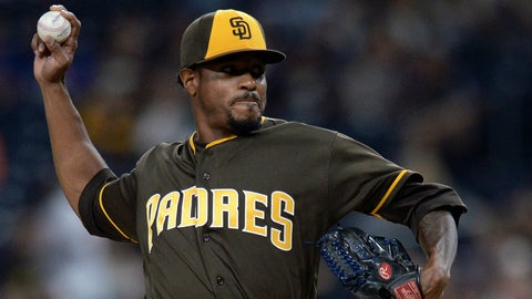 Padres starting pitcher Edwin Jackson