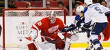 Wings lose game to Blues, Howard to injury