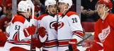 Lackluster Wings fall to Hurricanes 2-1