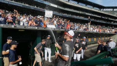 Tigers celebrate fourth straight division title