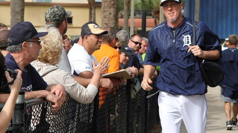 Tigers' first full-squad workout of spring training