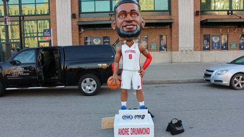 April in the D Bobbleheads at Opening Day