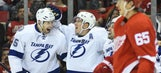 Lightning edge Red Wings 4-3 with late goal