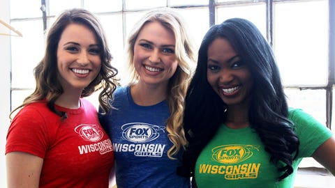 The FOX Sports Wisconsin Girls are all smiles at their Spring 2014 photo shoot.