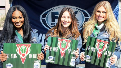 The FOX Sports Wisconsin Girls want to remind you if you can't watch the Bucks on your TV, you can stream them on your phone with the FOX Sports GO app.