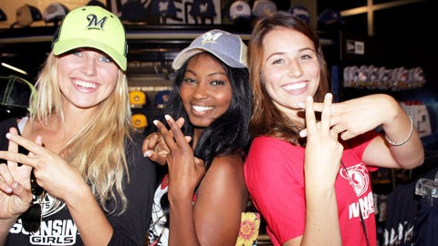 Hashtag this. The FOX Sports Wisconsin Girls joined the social conversation using #BrewersSocial.