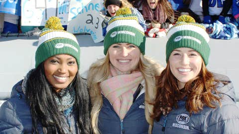 The FOX Sports Wisconsin Girls joined Wisconsin Lutheran in cheering their team on to the Division 3 title.