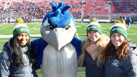 Bishara, Chyna & Sage congratulate Menasha's Bluejay on winning the D2 title vs. Waukesha West.