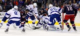 Lightning allow two 3rd-period goals, fall on road to Blue Jackets