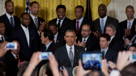 Heat visit the White House