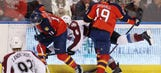 Panthers make mad dash in 3rd, come up short against Avalanche
