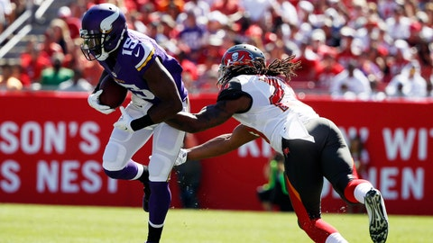 September 24: Tampa Bay Buccaneers at Minnesota Vikings, 1 p.m. ET