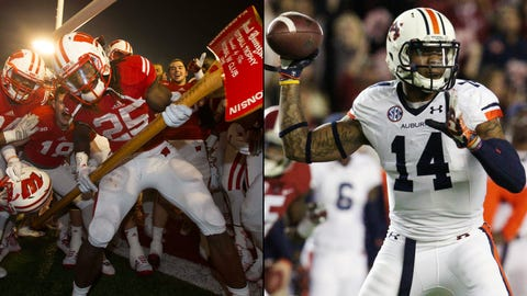 2. Outback Bowl -- No. 18 Wisconsin vs. No. 19 Auburn (12 p.m., Jan. 1, Tampa)