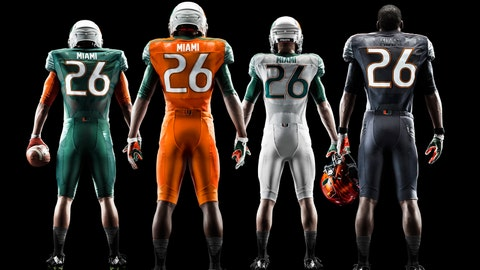 Miami Hurricanes jerseys