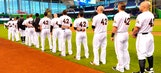 Notebook: Marlins don No. 42 for Jackie Robinson Day