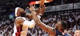 Heat irked by hard fouls, but won't let Bobcats bait them into retaliating