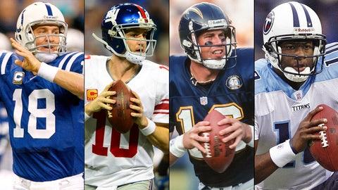 Quarterbacks drafted top 10 (1995-2014)